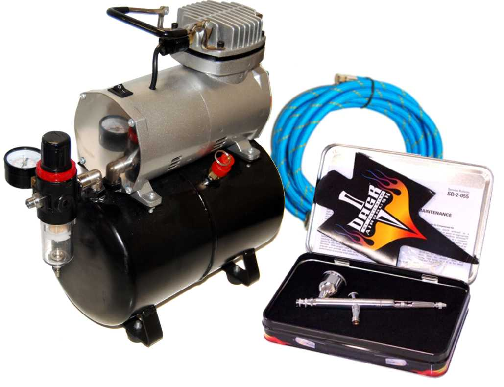 Devilbiss dagr airbrush tank compressor paint spray gun for Car paint air compressor