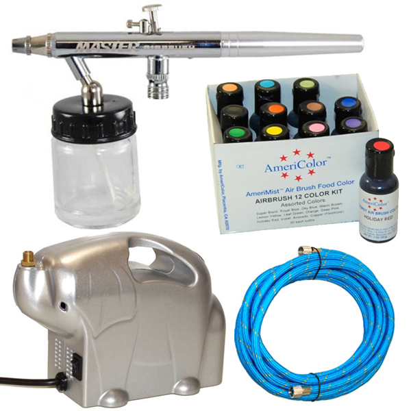 Complete Master Airbrush Cake Decorating Airbrush System : Dual-Action Airbrush CAKE DECORATING AIRBRUSHING KIT eBay