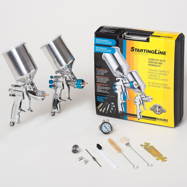 startingline hvlp spray paint guns basecoat clearcoat primer gun kit. Black Bedroom Furniture Sets. Home Design Ideas