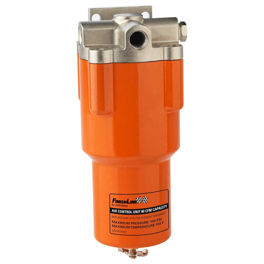Devilbiss finishline air line filter control unit spray for Filtre waterair