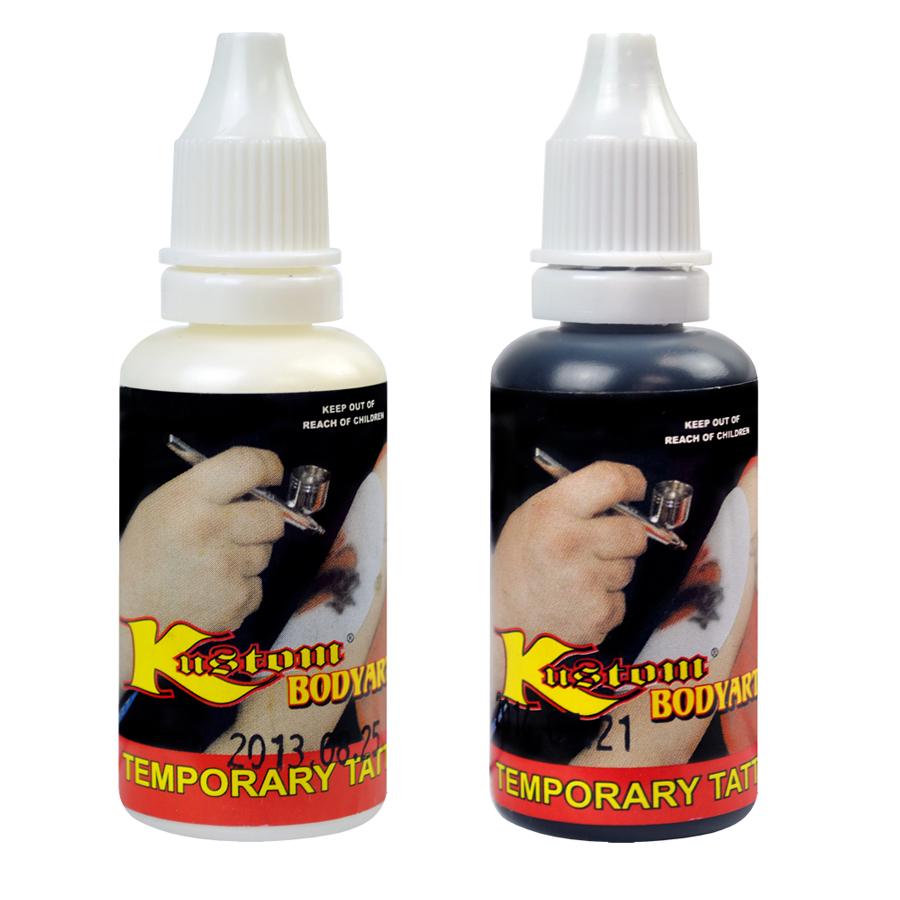 Custom body art 2 color kit temporary tattoo airbrush for Airbrush tattoo paint