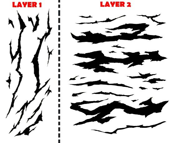 Winter camouflage airbrush stencil air brush template ebay for Camo paint template