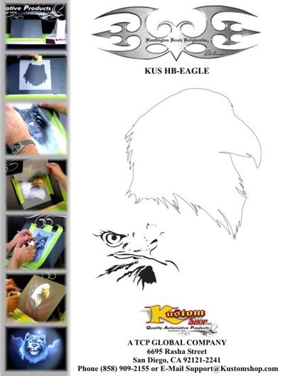 Bald Eagle Animal Airbrush Stencil Air Brush Template on