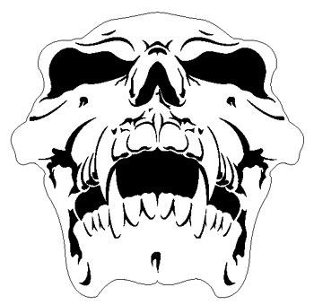 Details about SKULL 9-HUMAN AIRBRUSH STENCIL-AIR BRUSH TEMPLATE