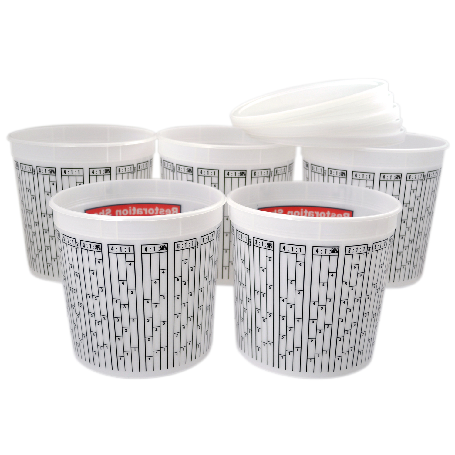 Paint Mixing Cup Plastic Measuring Quick Mix Pint Box Of