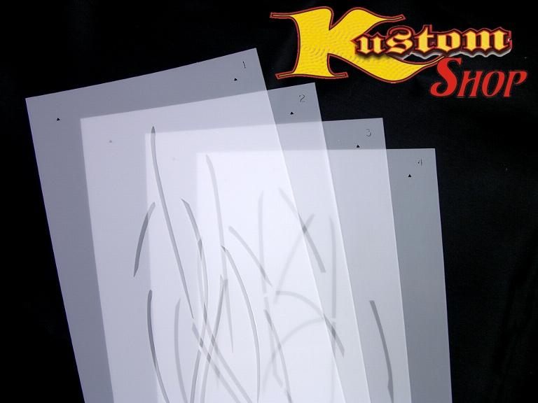 Pinstripe Pinstriping Airbrush Stencil Template RGSET1 On PopScreen