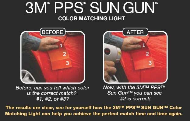 3m pps sun gun color matching light auto paint spray ebay. Black Bedroom Furniture Sets. Home Design Ideas