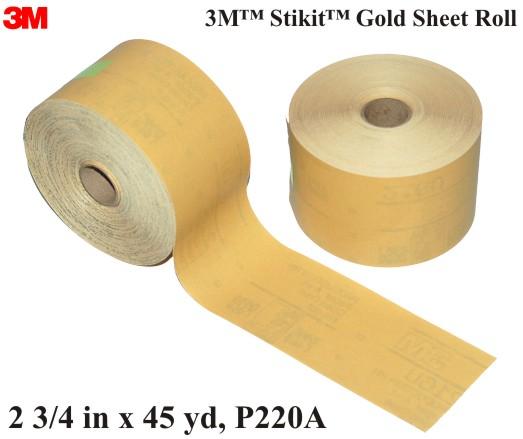 3m 2594 P220 Sandpaper Roll Durablock Sand Paper Sander Ebay