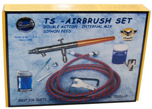 Paasche TS-SET, Talon Siphon Feed Double-Action Airbrush Set