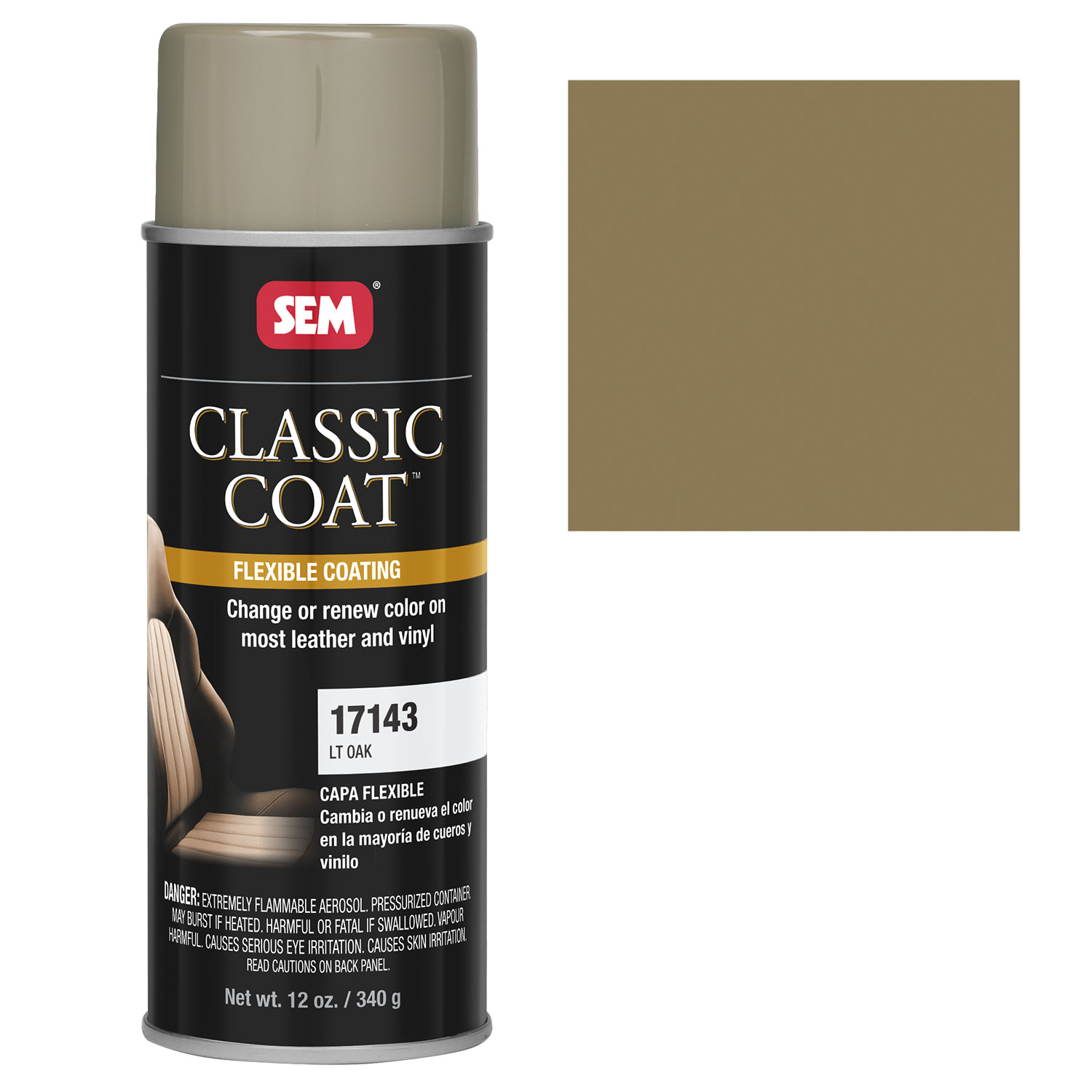 details about sem classic coat lt oak vinyl leather spray auto paint. Black Bedroom Furniture Sets. Home Design Ideas