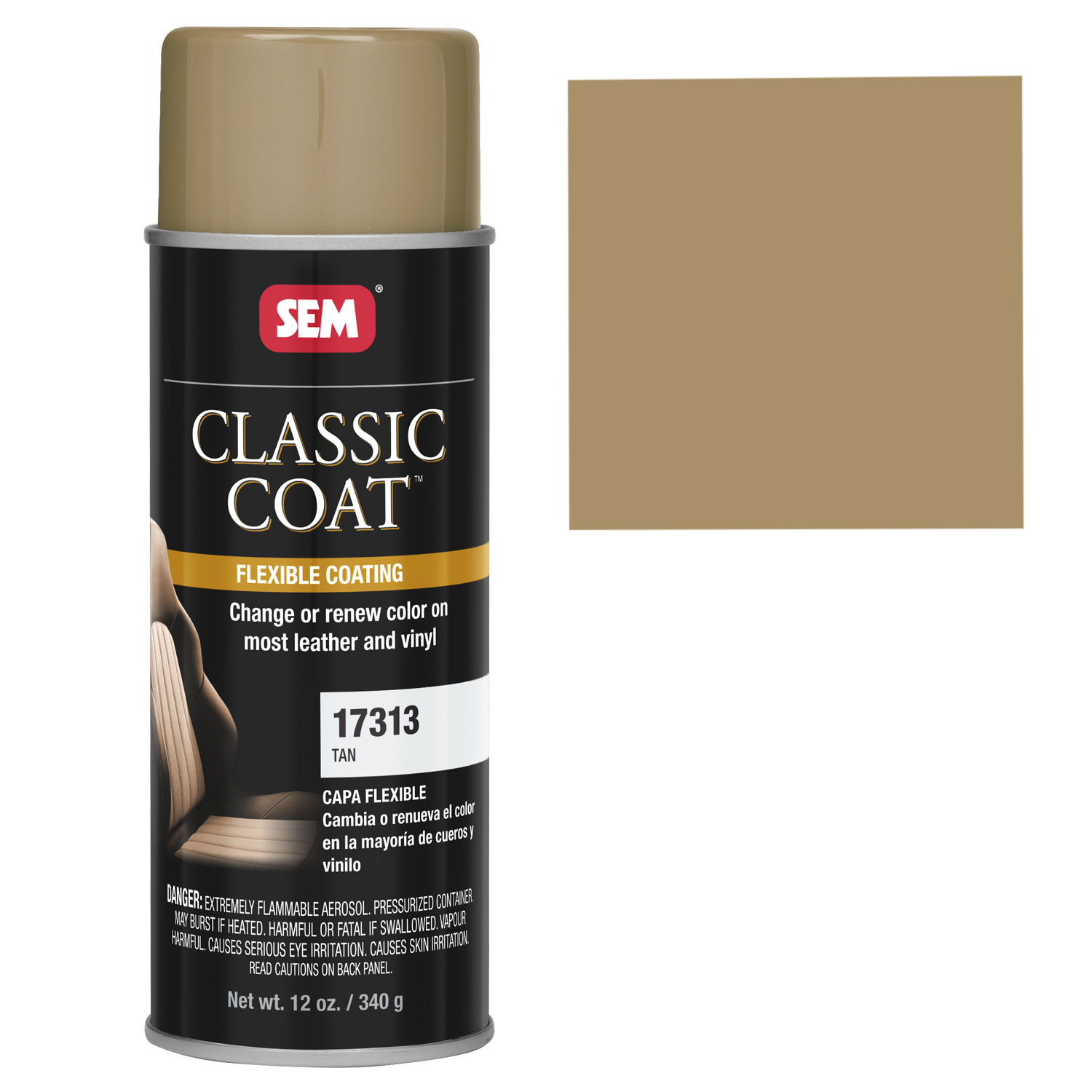 details about sem classic coat tan vinyl leather spray auto paint. Black Bedroom Furniture Sets. Home Design Ideas