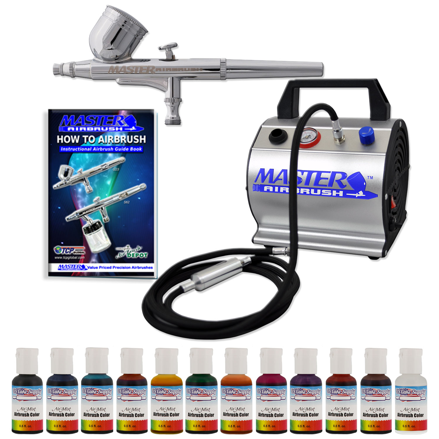 Professional Airbrush Cake Decorating System : Professional Premium Master Airbrush Cake Decorating ...