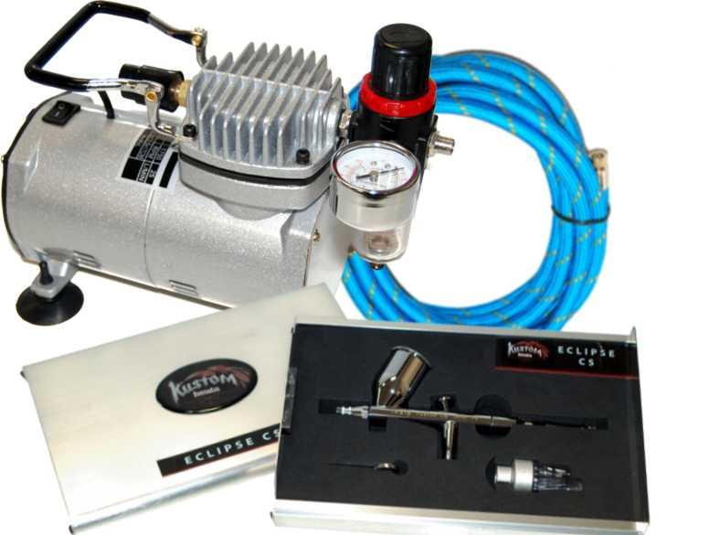 Iwata 4298 custom cs airbrush air compressor auto paint ebay for Car paint air compressor