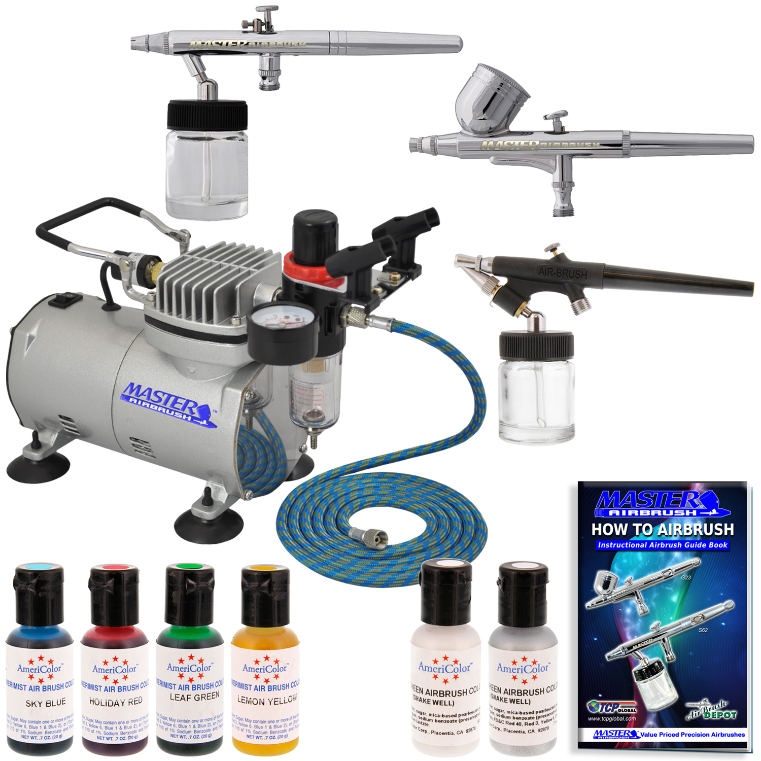 3 Airbrush Cake Decorating System Kit Air Compressor Air ...