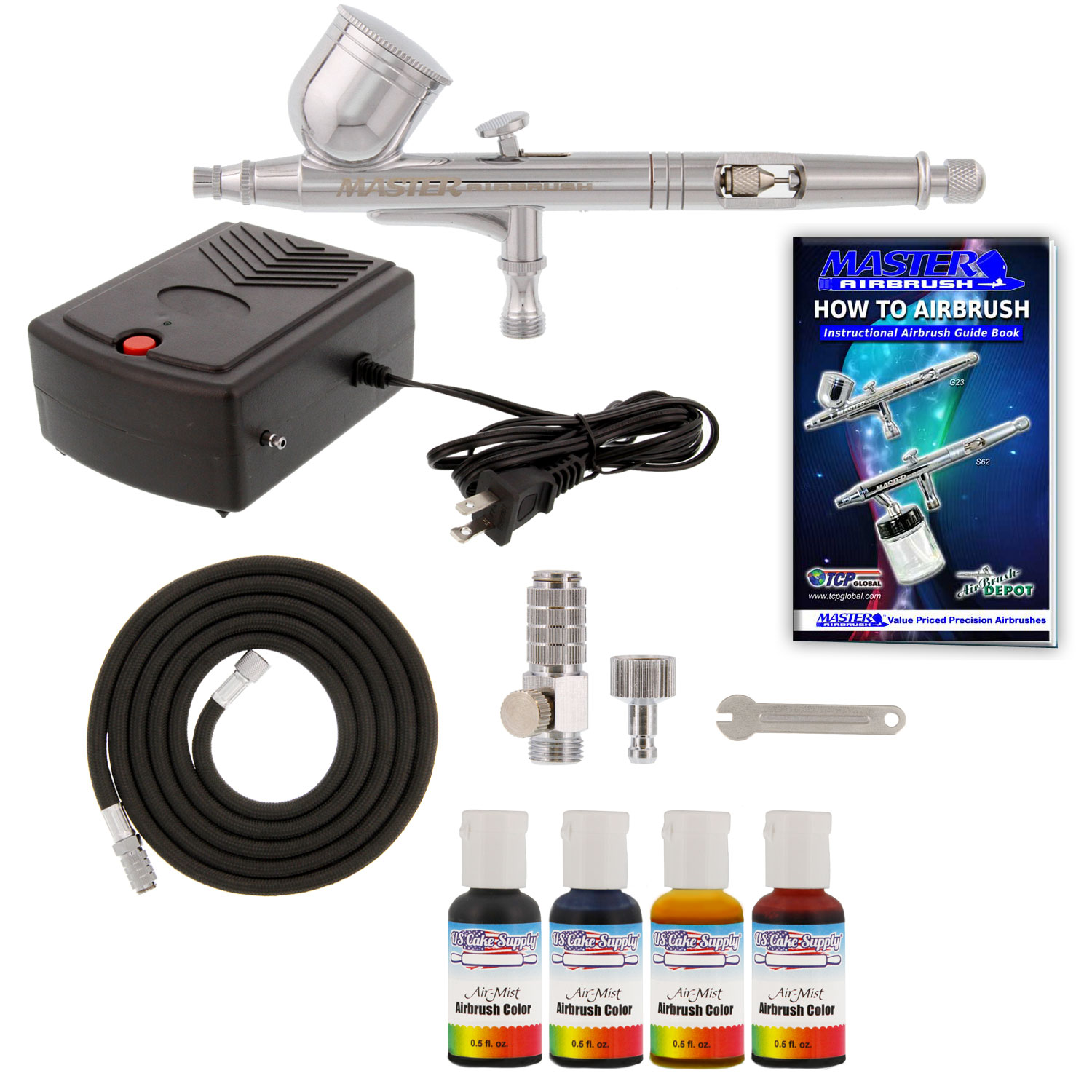 Complete Master Airbrush Cake Decorating Airbrush System : Complete Cake Decorating Airbrush System KIT W Food Color ...