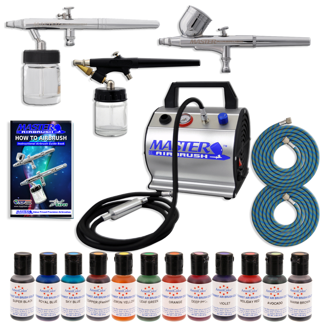 Master premium cake decorating airbrush system kit w 3 for Airbrush cake decoration