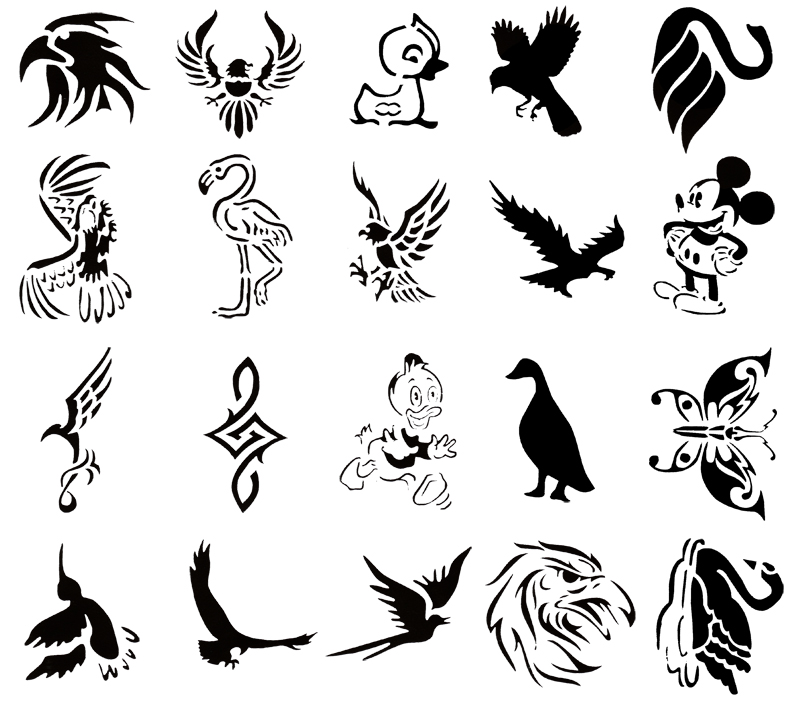 Lesson 6 25 airbrush tattoos camphalfbloodrp for Spray on tattoo stencils
