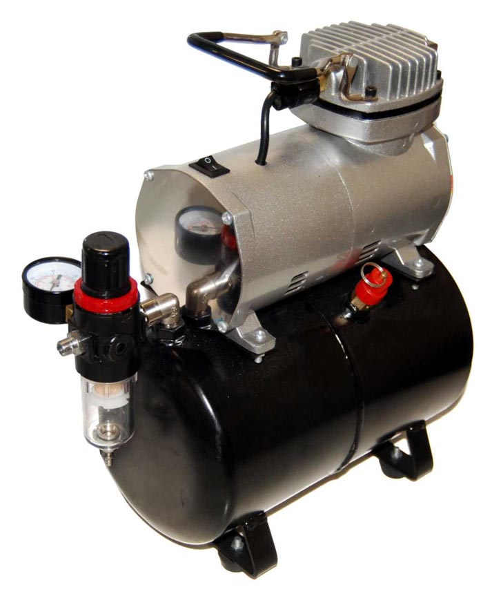 AirBrushDepot Compressor Model TC-20T, High Performance Airbrush Compressor with Tank