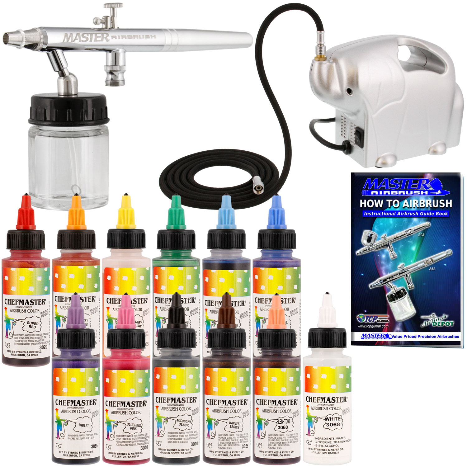 Complete Master Airbrush Cake Decorating Airbrush System : Complete Master Airbrush Cake Decorating Airbrushing ...