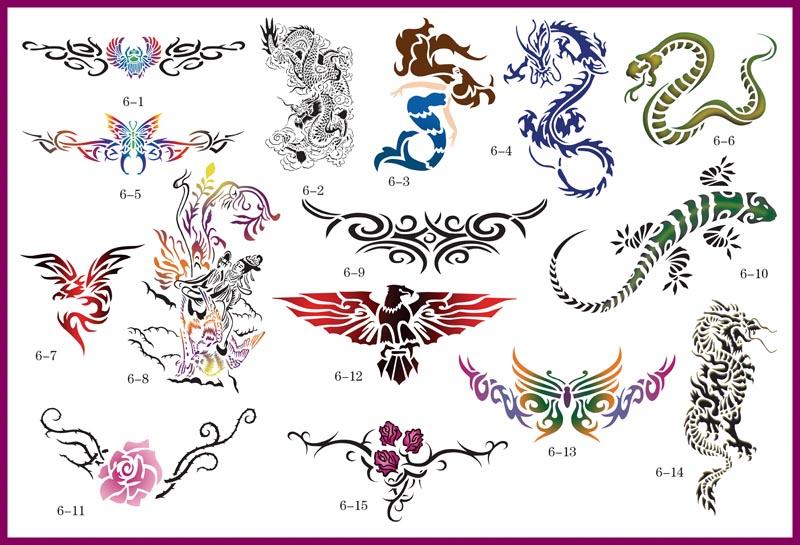 Kustom Airbrush Tattoo Stencils