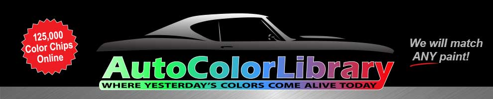 Auto Color Library We Will Match Any Car Paint Color
