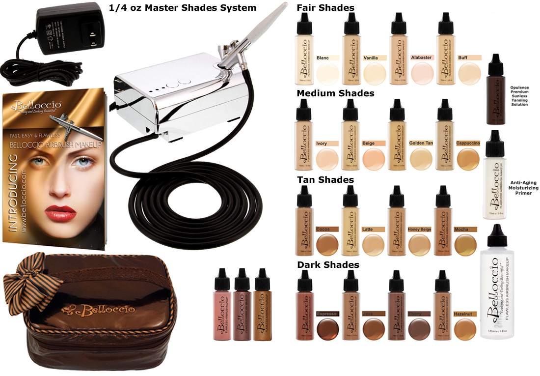 Color Airbrush Makeup Set Compressor Hose Found Bag
