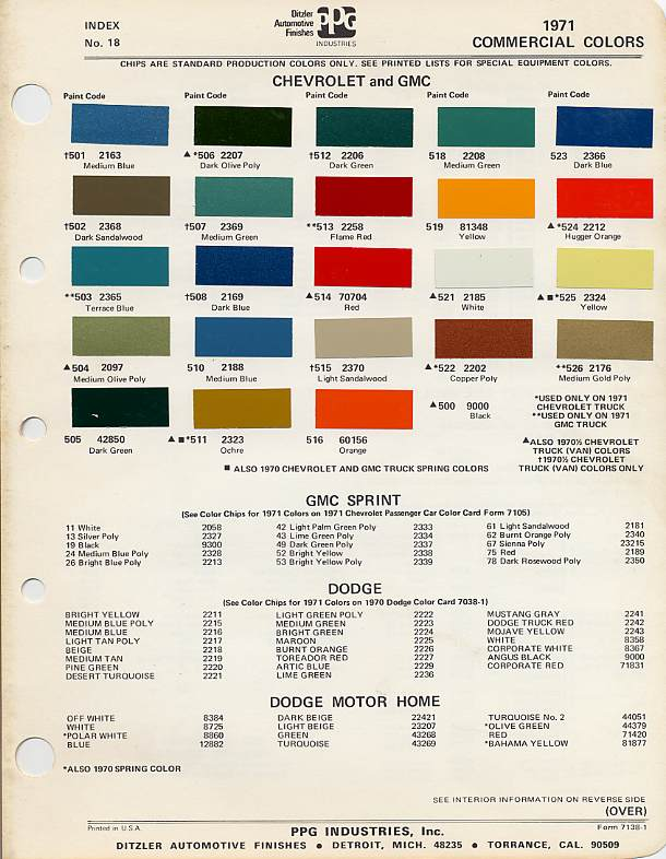 Chevrolet Silverado Paint Colors By Vin Number