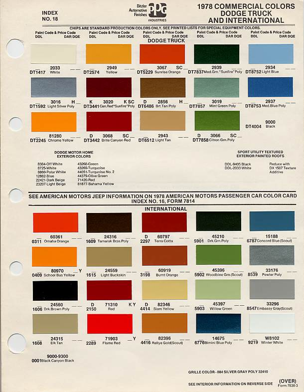 Paint Color Codes For Cars Deals On 1001 Blocks