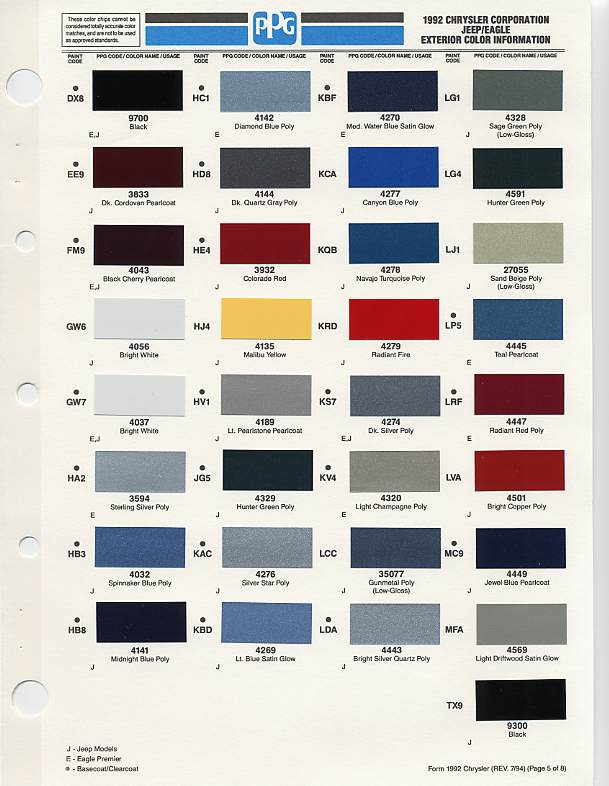 Jeep Wrangler Colors By Year >> 2018 Jeep Wrangler Colors Chart 2019 2020 Top Car Models
