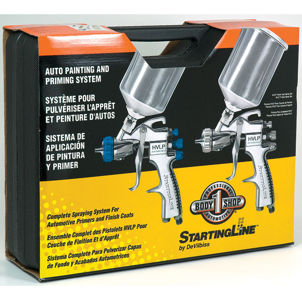 startingline hvlp spray paint guns basecoat clearcoat primer gun kit. Black Bedroom Furniture Sets. Home Design Ideas