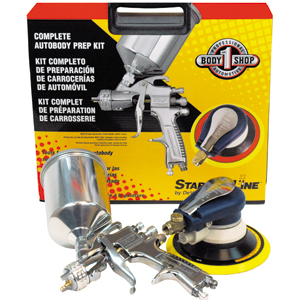 Devilbiss StartingLine Body Prep Tool Kit (HVLP Spray Gun and Palm Sander Combo)