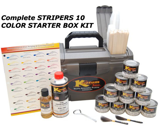 Details about stripers 10 color starter box kit auto pinstripe paint