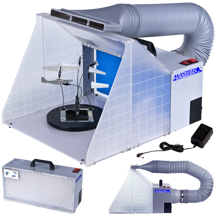 portable hobby airbrush spray booth kit with exhaust