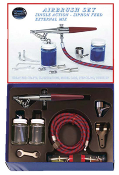 Paasche H-SET, Single Action - Siphon Feed External Mix Airbrush