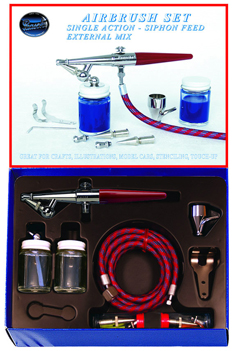 Paasche HS-SET, Single Action - Siphon Feed External Mix Airbrush