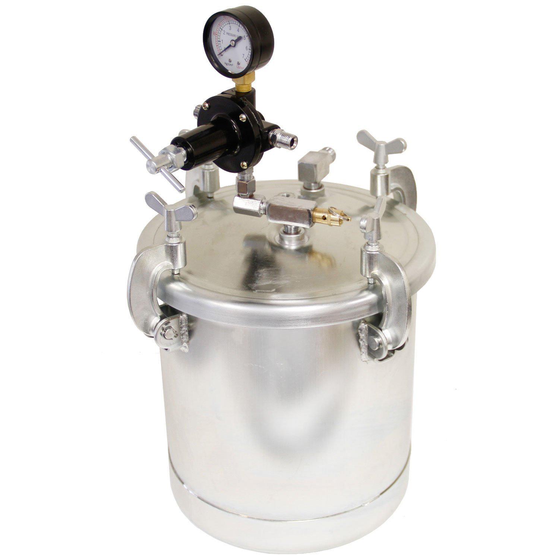 Pressure Paint Gun Pot : Gallon pressure feed paint tank pot for spray gun