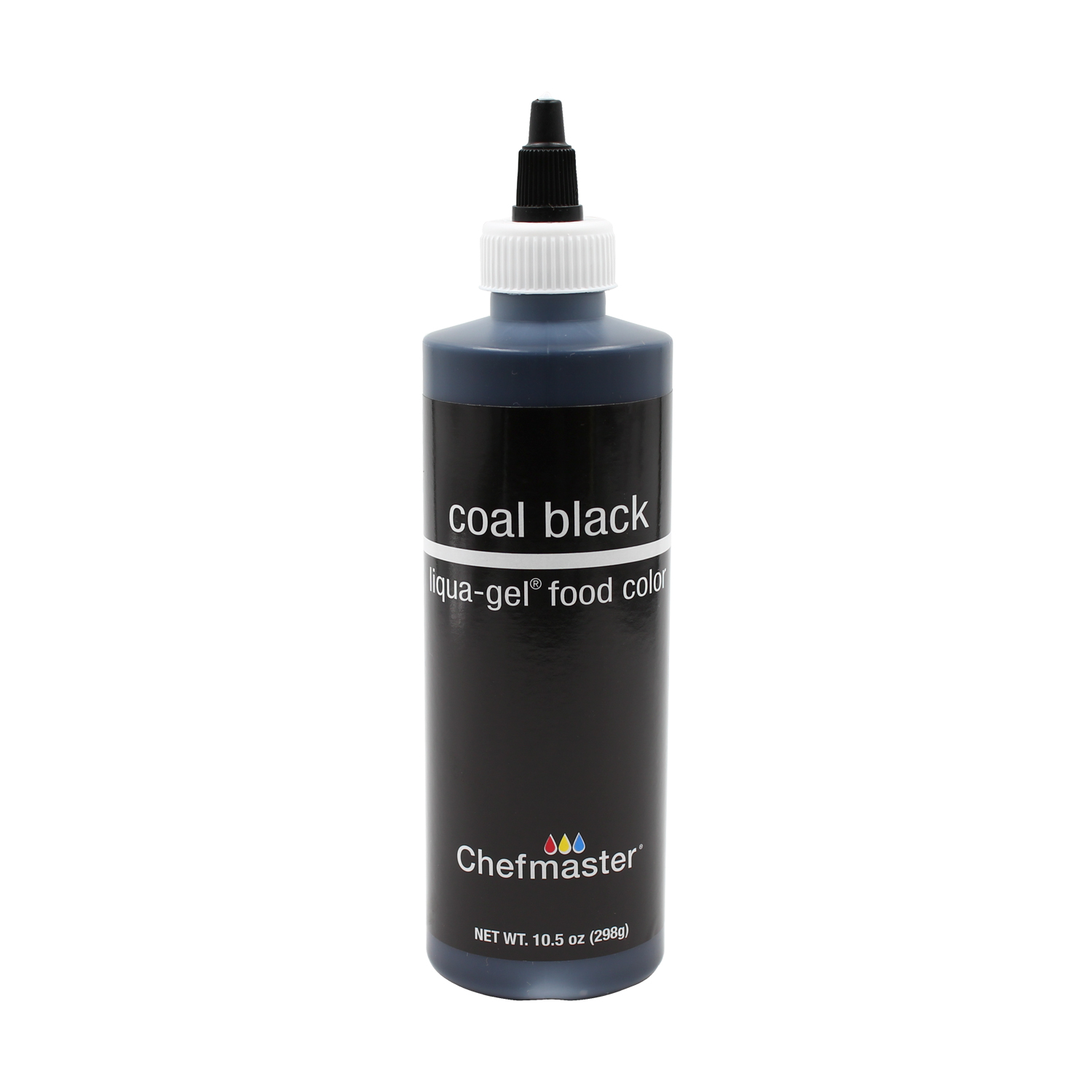 Details about Chefmaster by US Cake Supply 10.5-Ounce Coal Black Liqua-Gel  Cake Food Coloring