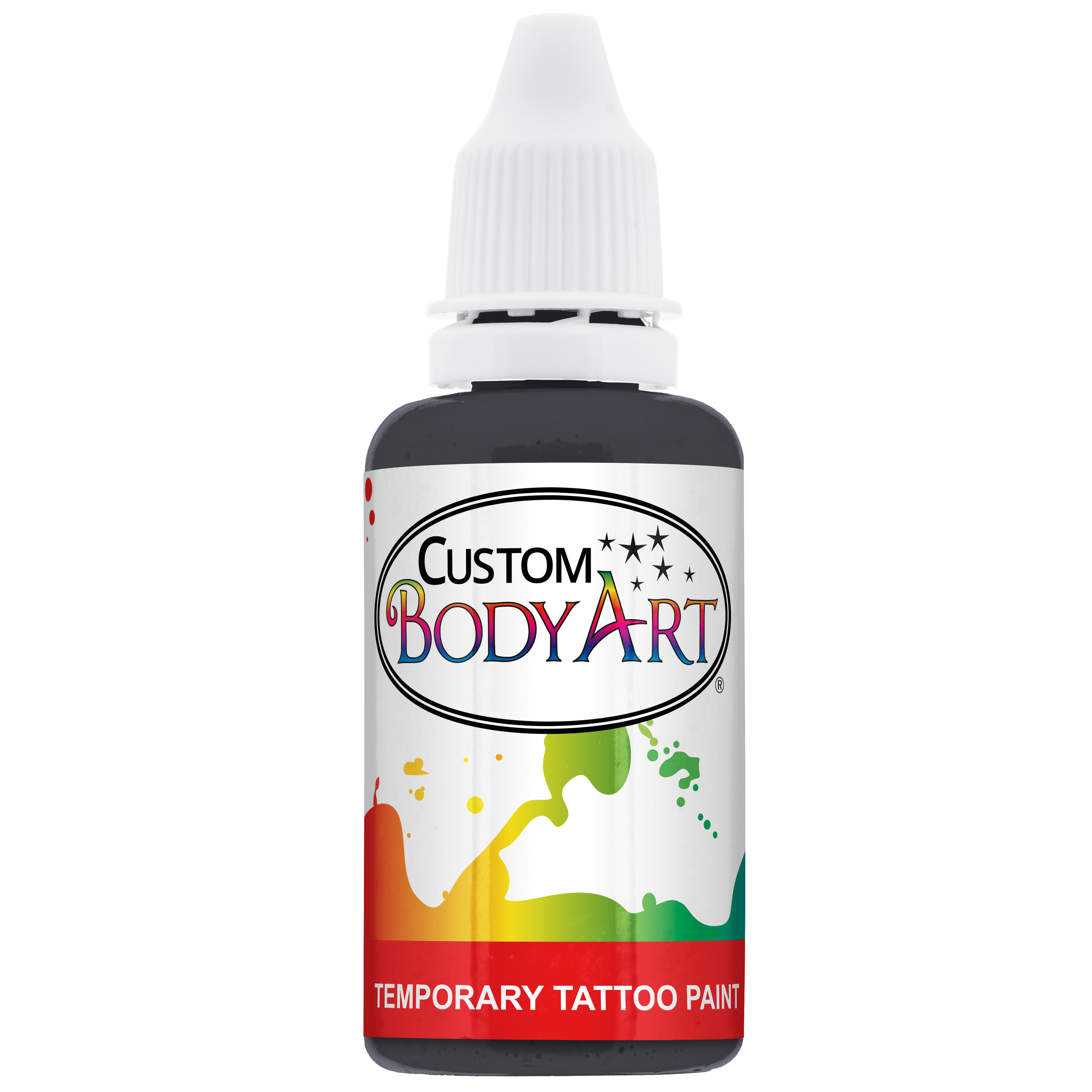 Details About 1 Oz Black Body Art Temporary Tattoo Airbrush Paint Ink