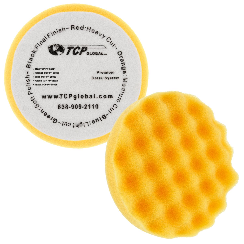 """6.5/"""" Blue Waffle Light Cut Grip Foam Polish Buff Pad DA Hook /& Loop Car Detail"""