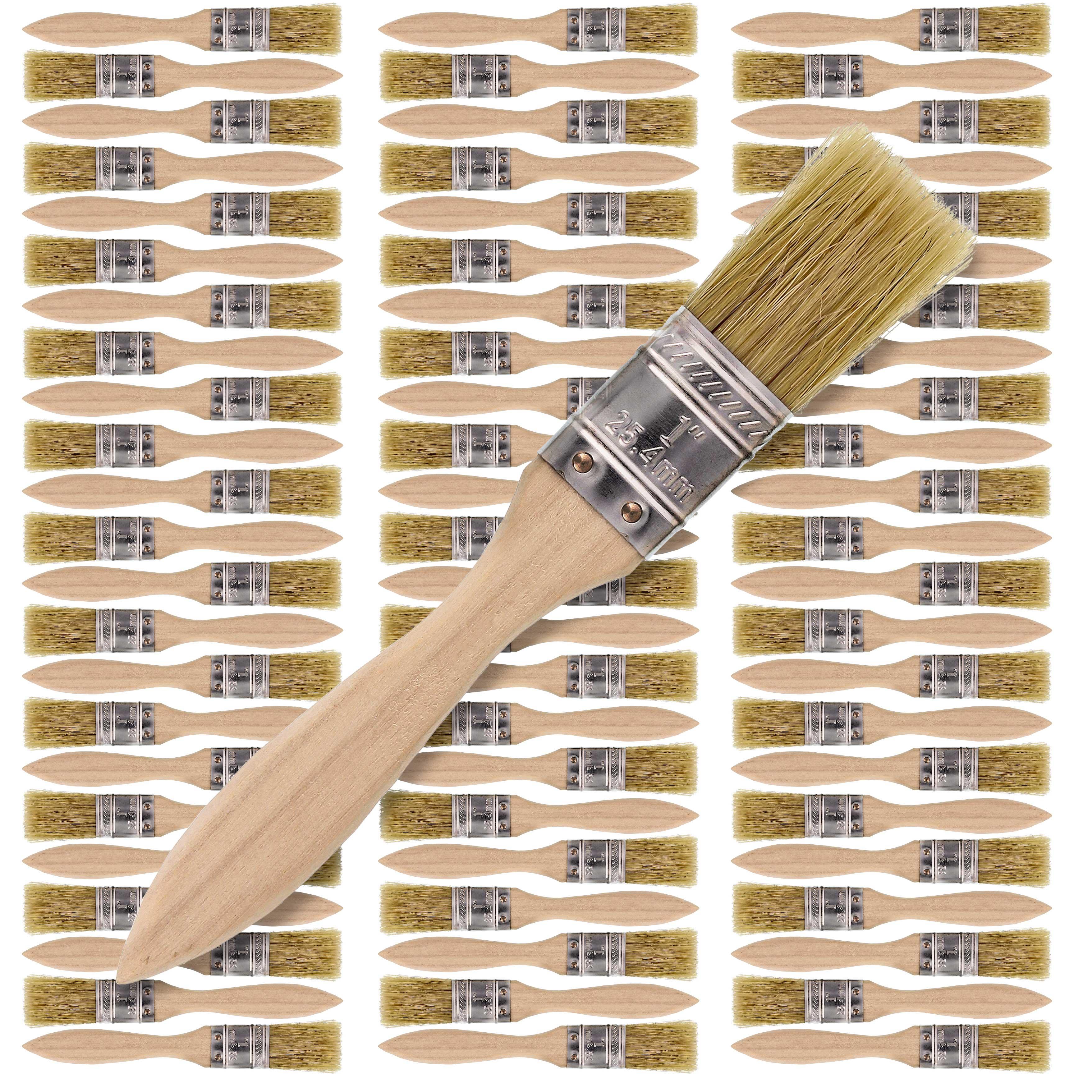 "1/"" Paint Chip Stain Craft Bristle Brush 36 Lot"