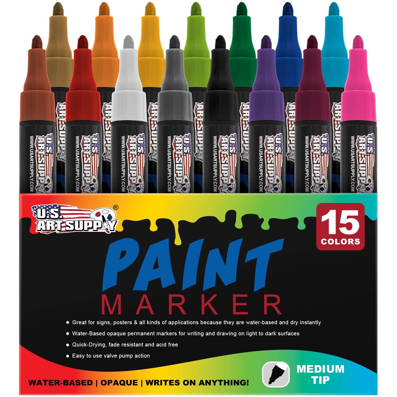 Aqua Ink Medium Point Thornton/'s Art Supply Oil-Based Craft Art Paint Markers
