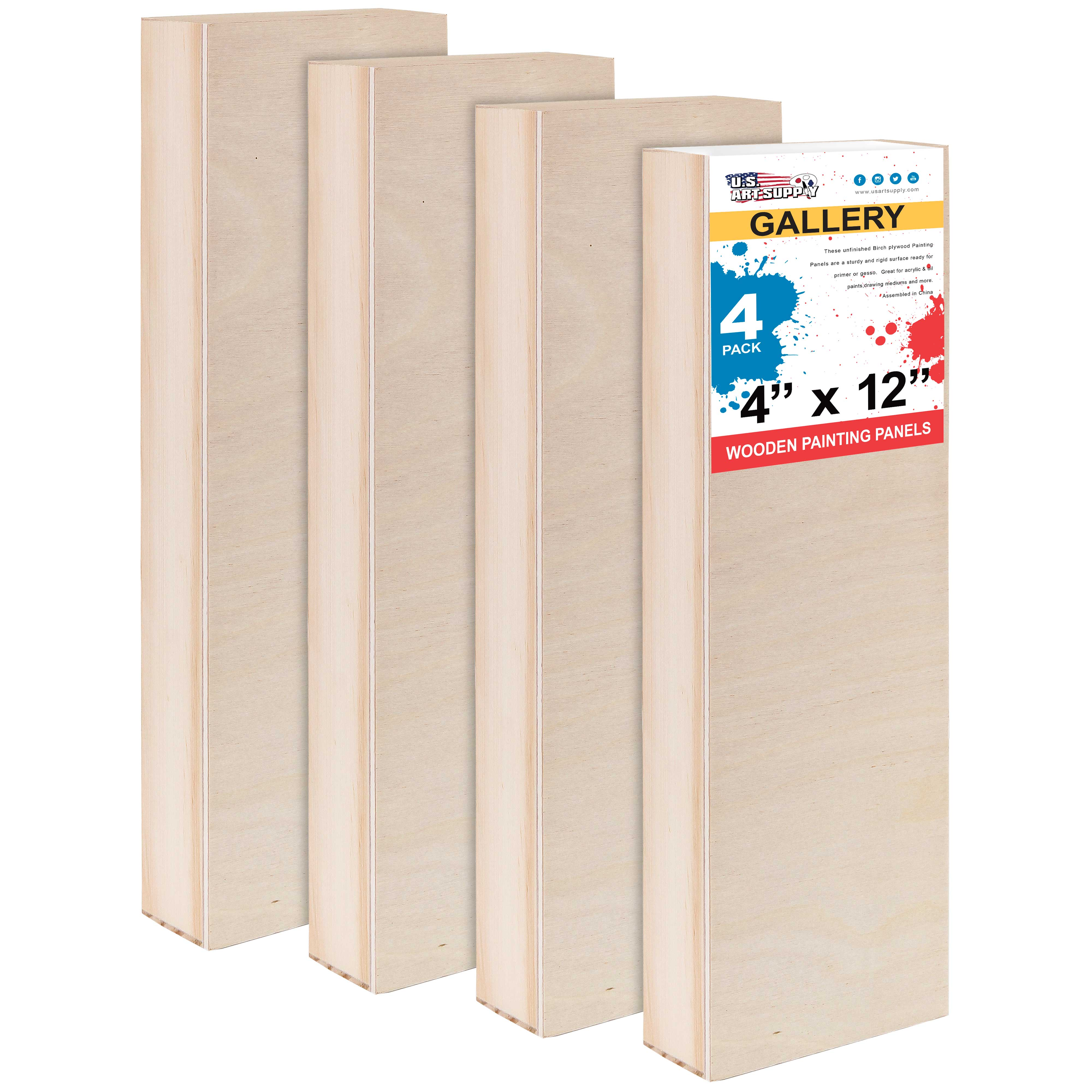"""18/"""" x 24/"""" Gallery 1-1//2/"""" Profile Depth Artist Wood Pouring Panel Boards 2-Pack"""