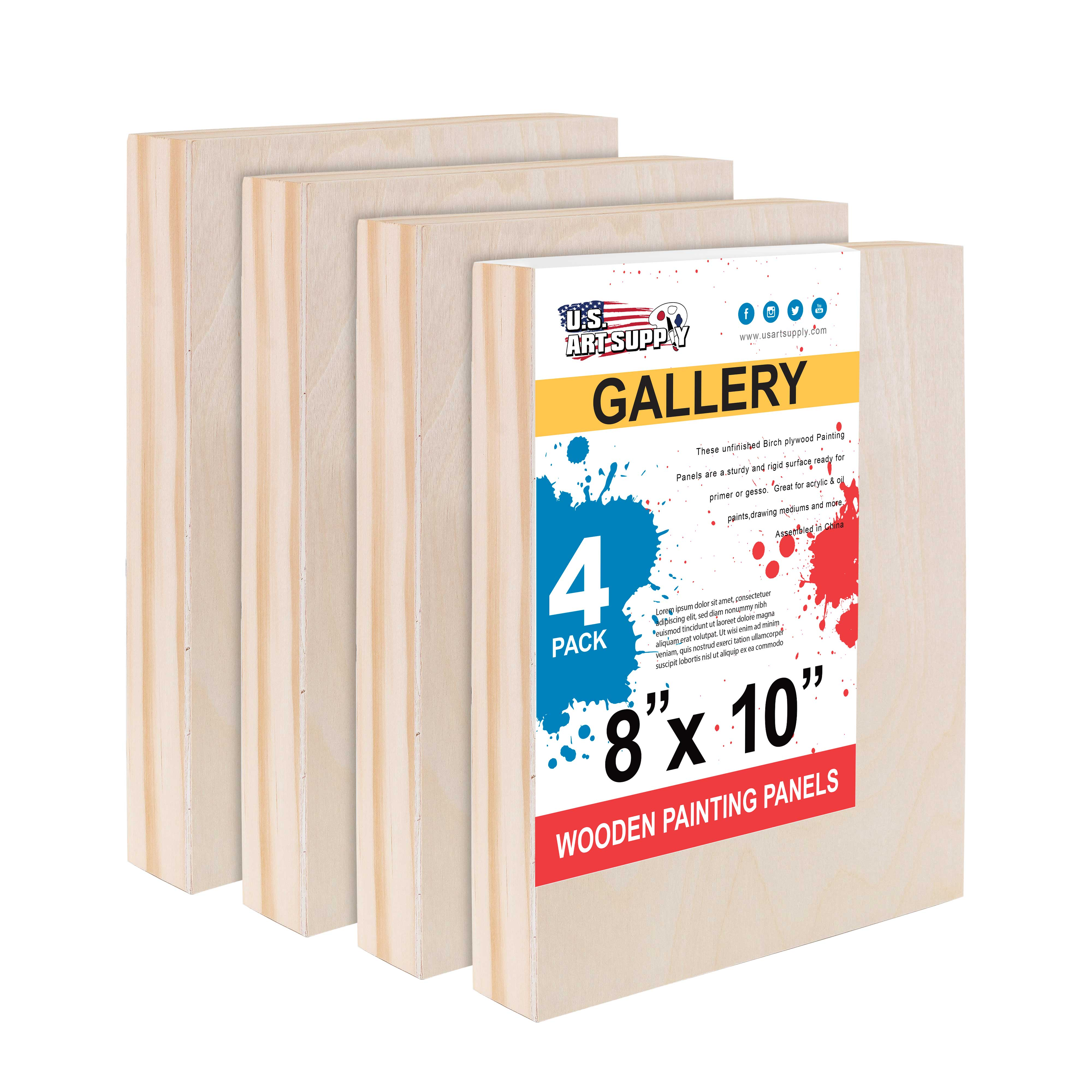 """5/"""" x 5/"""" Studio 3//4/"""" Profile Depth Artist Wood Pouring Panel Boards Pack of 5"""
