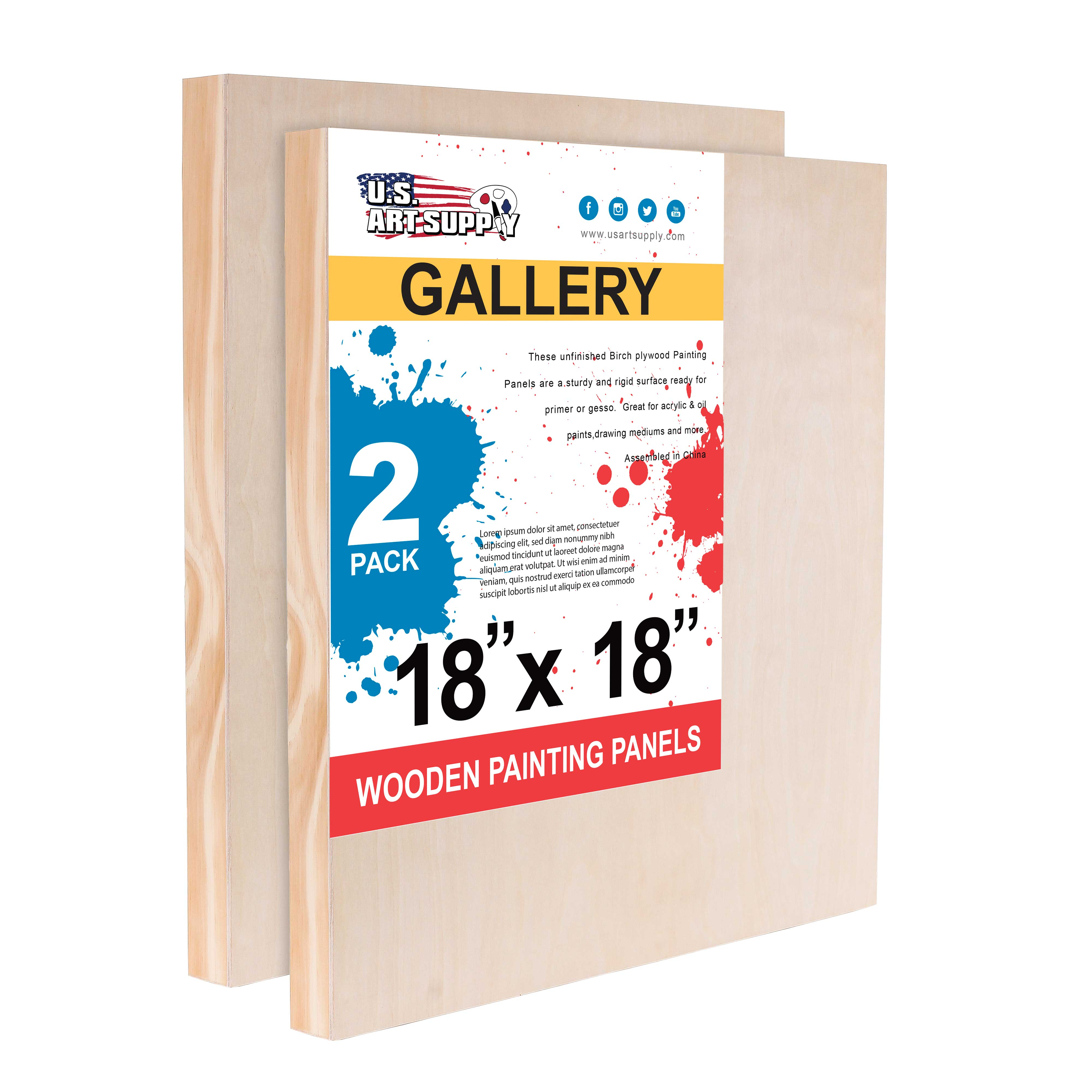 "11/"" x 14/"" Gallery 1-1//2/"" Profile Depth Artist Wood Pouring Panel Boards 3-Pack"