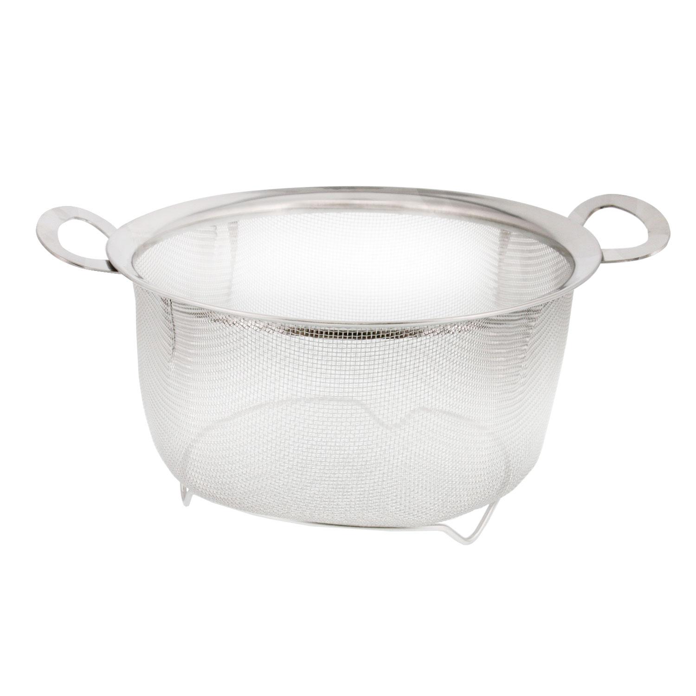 U.S Stainless Steel Mesh Strainer Net Baskets 3 4 5qt Kitchen 3pc Colander Set