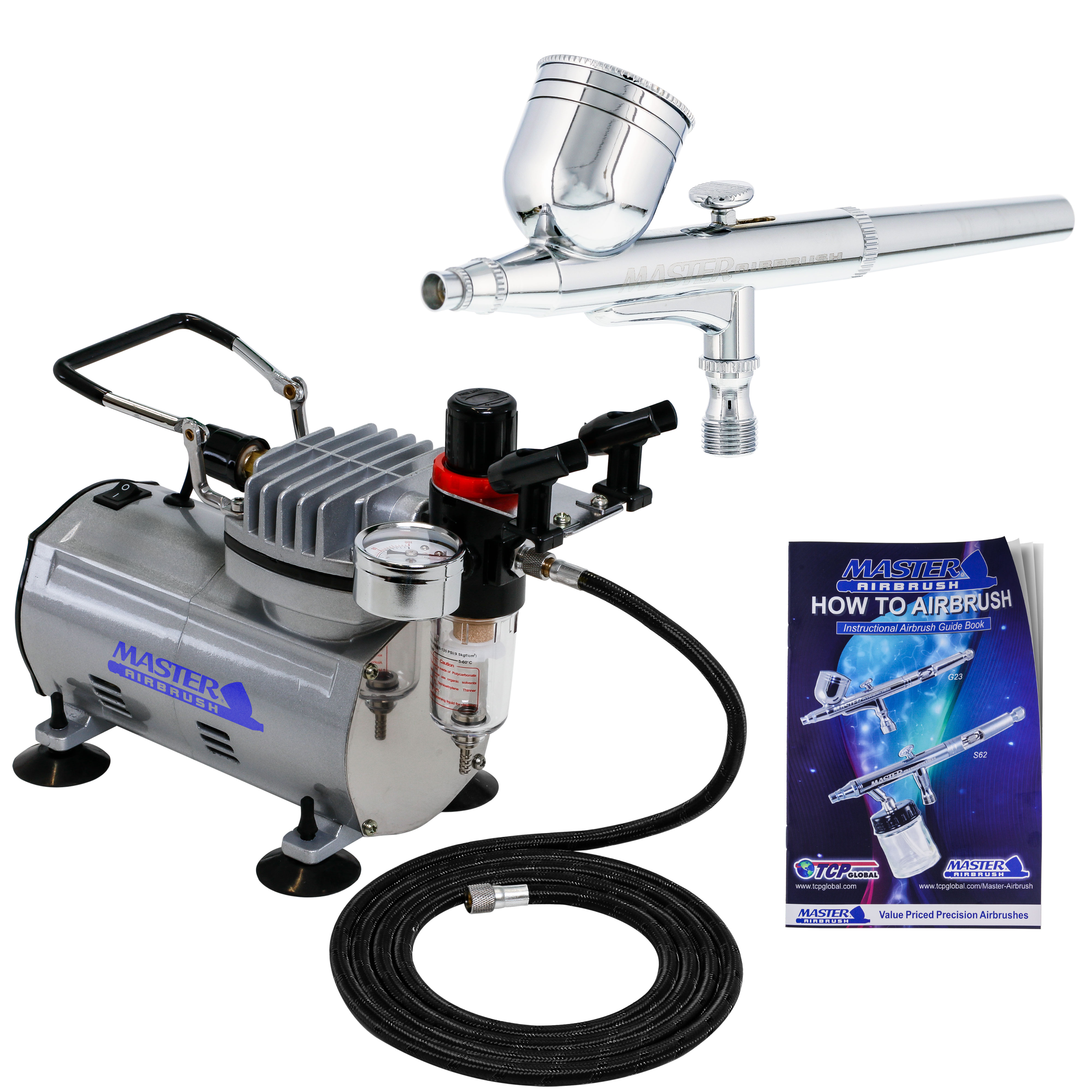 Details About Gravity Dual Action Airbrush Kit Set Air Compressor Spray Auto Paint Hobby Craft