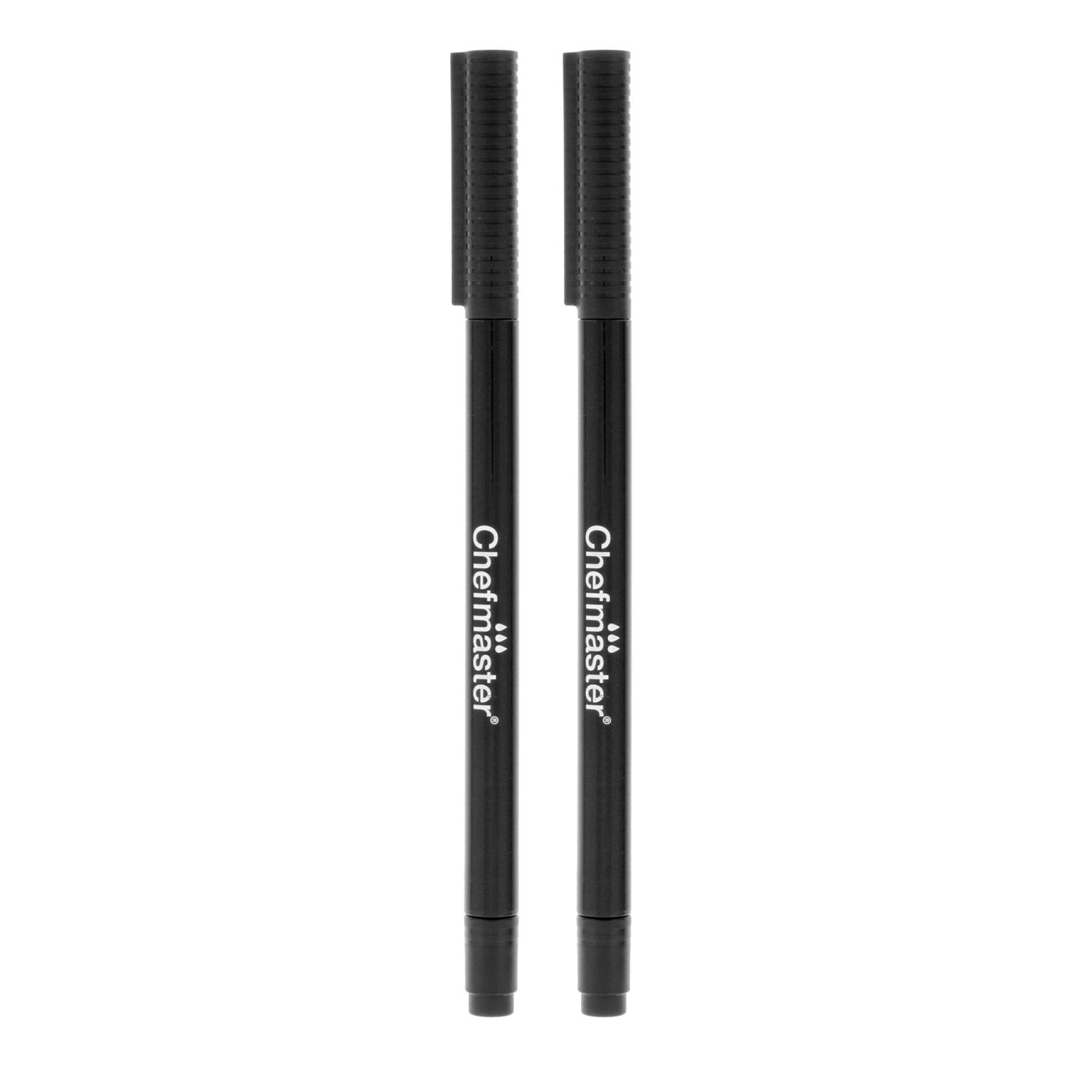 Details about 2 Black Chefmaster Edible Food Coloring Decorating Marker  Pens - Dual Tips